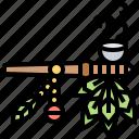 adorned, calumet, pipe, smoke, tobacco
