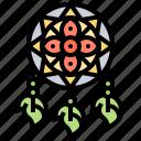 bohemian, dreamcatcher, gypsy, mobile, traditional icon