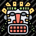 ancient, mask, tiki, tribal, wooden icon
