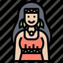 american, dress, indigenous, native, woman icon