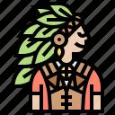 chief, headdress, leader, tribal, warrior