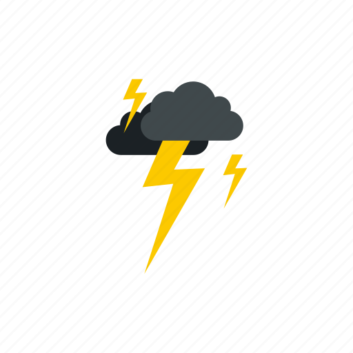 climate, clouds, drop, lightning, meteorology, sky, weather icon