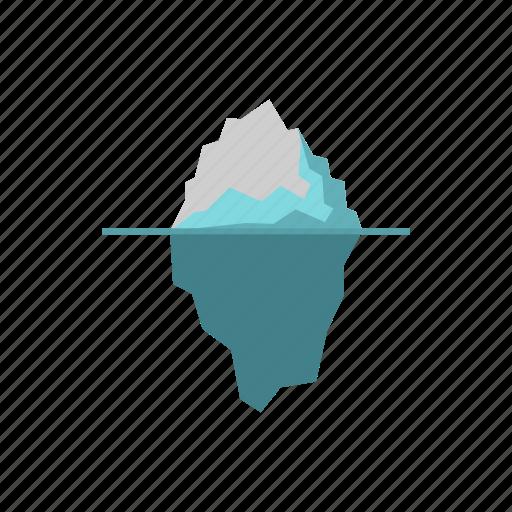 cold, ice, iceberg, landscape, nature, sea, water icon
