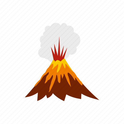 eruption, hot, lava, mountain, nature, smoke, volcano icon