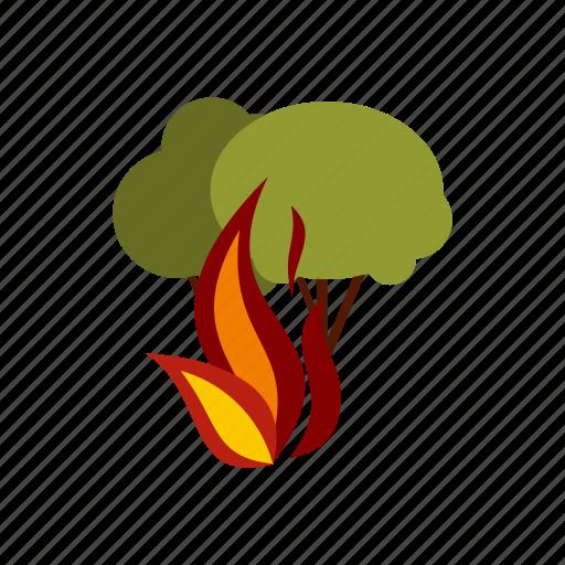 charcoal, danger, extinguish, fire, illuminate, panic, woods icon