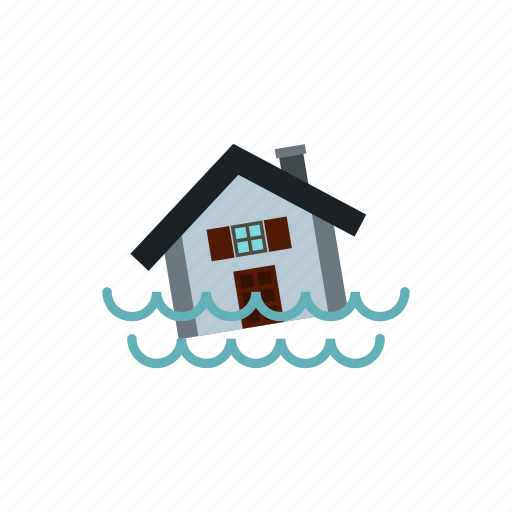 crash, drenched, flood, flooding, panic, swims, water icon