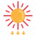 earth, planet, solar, uv, wave icon