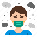 air, dust, gas, particle, pollution icon