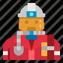 firefighter, fireman, helmet, jobs, rescue icon