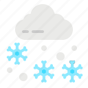 cold, fall, house, snow, weather icon