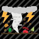 landscape, meteorology, scenery, tornado, weather icon