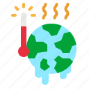 ecology, global, hot, temperature, warming icon