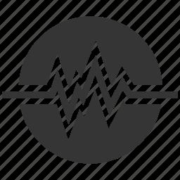 damage, danger, disaster, earthquake, hazard, natural, risk, safety, warning icon