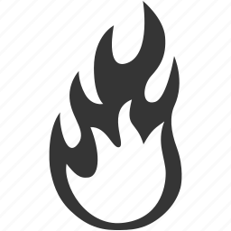 alert, burn, danger, fire, flame, heat, risk, safety, warning icon