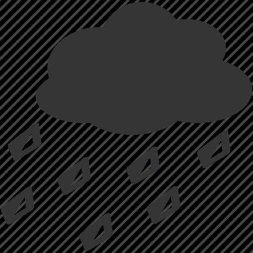 forecast, hail, hazard, rain, risk, storm, weather icon