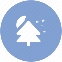 ecology, fir, moon, moon and fir, nature, night, tree icon