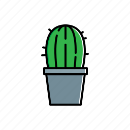 cactus, green, nature, pot icon
