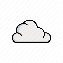 cloud, cloudy, ecology, forecast, nature, weather icon