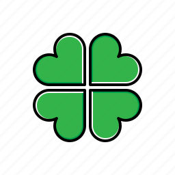 clover, green, leaf, nature icon