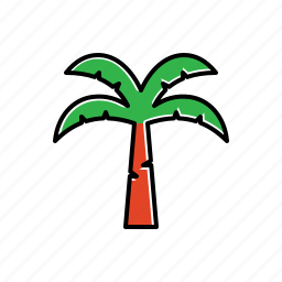 coconut, forest, green, nature, plant, tree icon