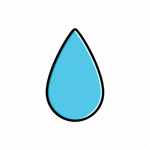 drop, nature, water, weather icon