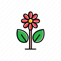 flower, garden, green, leaf, nature icon