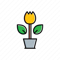 flower, garden, green, nature, pot icon