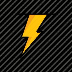 lightning, nature, weather icon