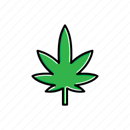 green, leaf, marijuana, nature icon