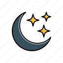 moon, nature, stars, weather icon