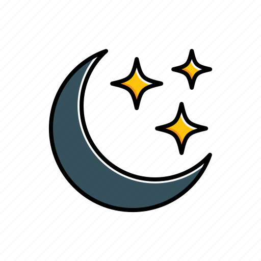 moon, nature, stars, weather icon