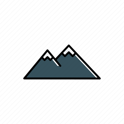 landscape, mountain, nature icon