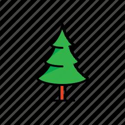 christmas, garden, green, nature, pine, tree icon