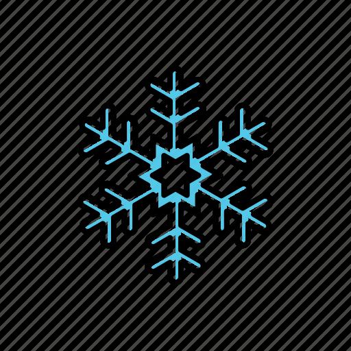 nature, snowflake, weather icon