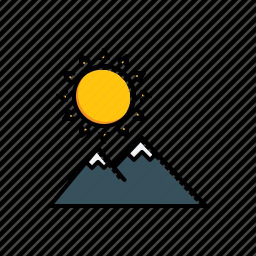 landscape, nature, sunny icon