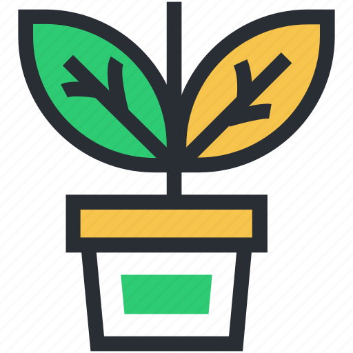flowering plant, greenery, nature, plant, plant pot icon