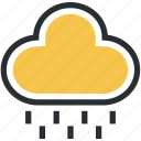 atmosphere, cloud, rain, raindrops, raining, weather icon