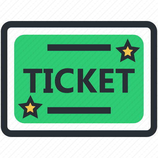 entry ticket, museum pass, museum ticket, park ticket, ticket icon