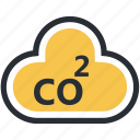 chemistry, cloud, oxygen, oxygen formula, science icon
