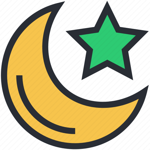 dark, evening, midnight, moon, night, night time, nightfall, star icon