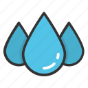 droplet, drops, raindrop, raining, water drops icon