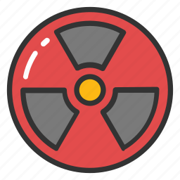 electrical power plant, nuclear energy, nuclear power, radiation, toxic icon
