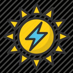 energy resource, solar electricity, solar energy, sun electricity, sun energy, sun power icon