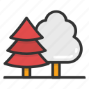 evergreen forest, fir trees, forest, larch trees, pine trees icon