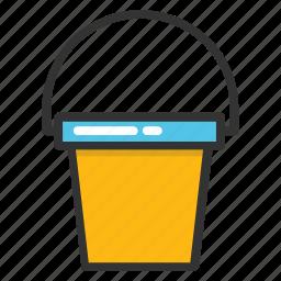 bucket, pail, paint bucket, water bucket icon