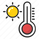 weather temperature, weather thermometer, temperature, hot weather, thermometer