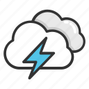 cyclone, hailstorm, heavy rain, rainstorm, thunderstorm icon