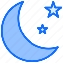 star, moon, weather, night, clear, sky