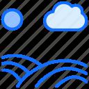 path, road, highway, cloud