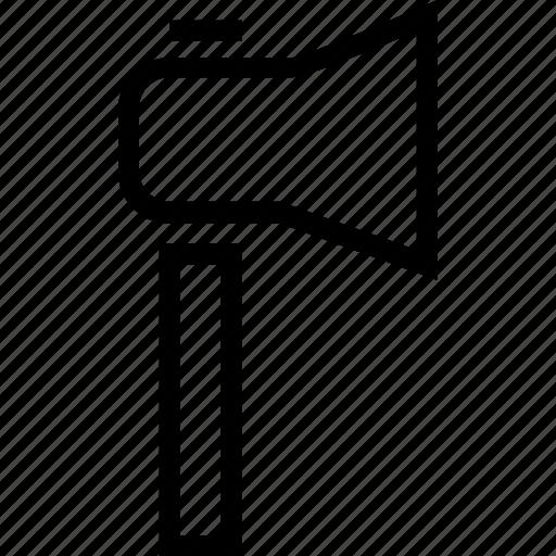 announcement, megaphone, pole icon